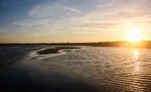 Kitesurfen in Oslos am Limfjord in Dänemark
