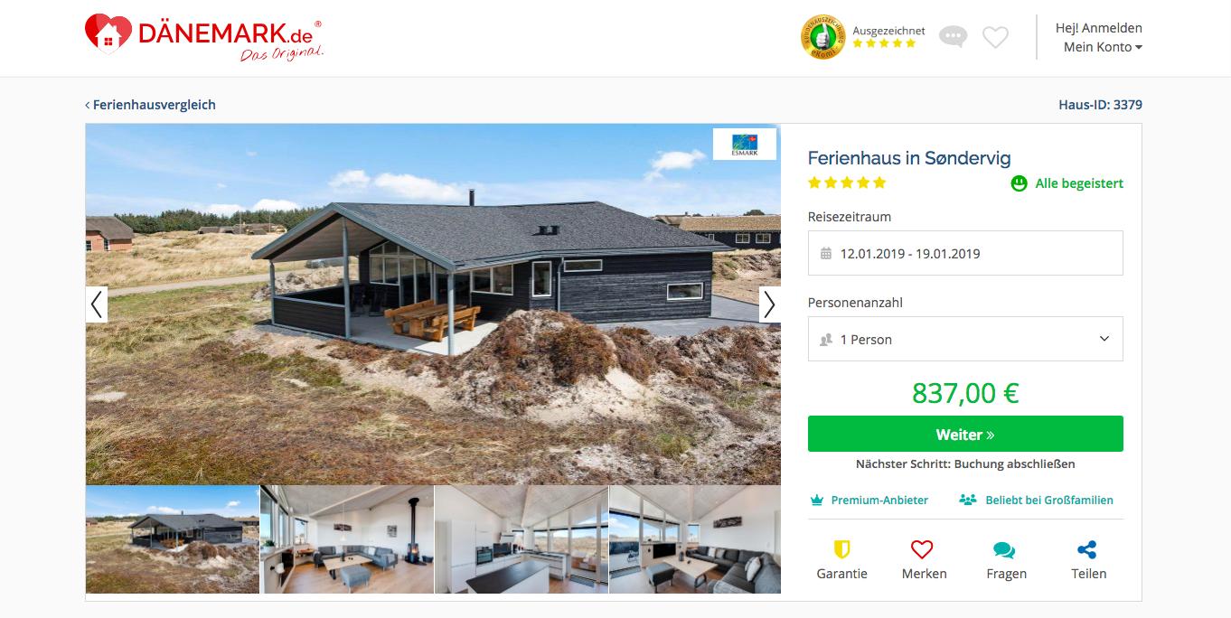 Ferienhaus Plattform Dänemark.de