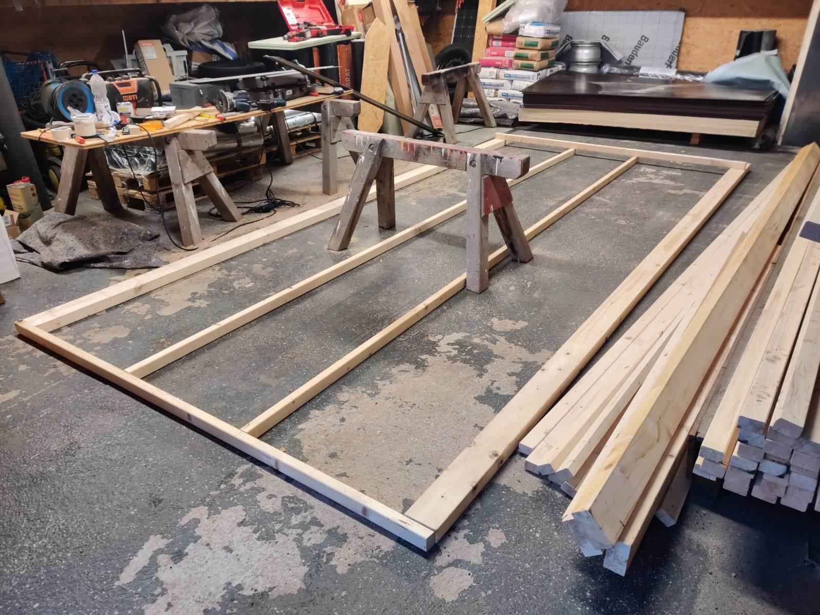 Rahmen Holzkabine